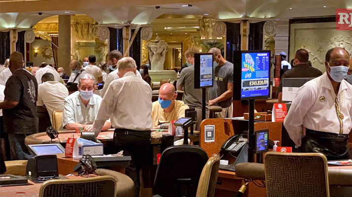 Casino Workers in empty Las Vegas casinos