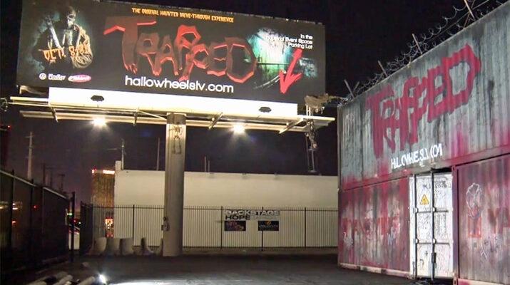 """""""Trapped"""" Halloween wheels in las Vegas"""